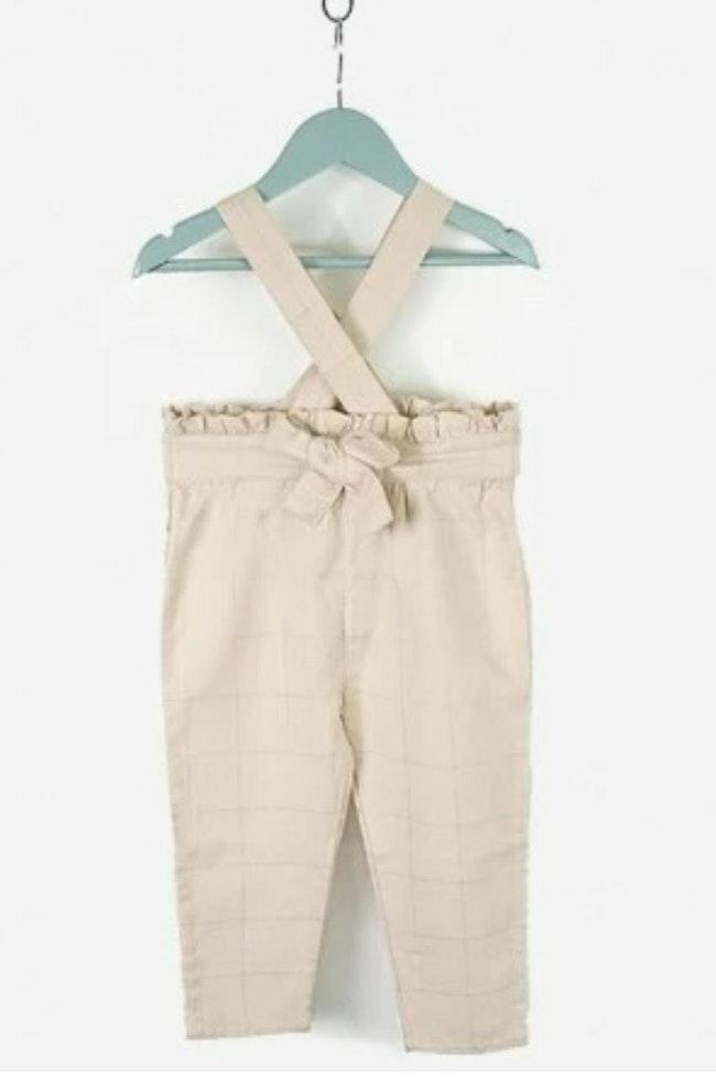 Pantalon bébé fille à bretelles bello