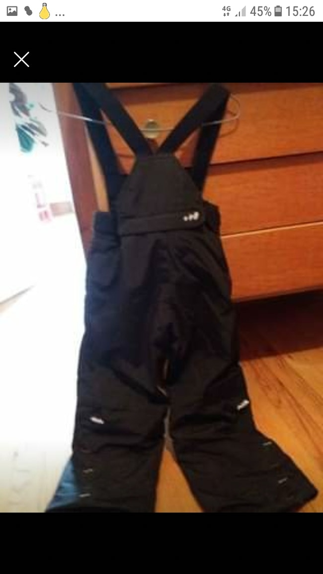 Pantalon de ski salopette mixte car noir