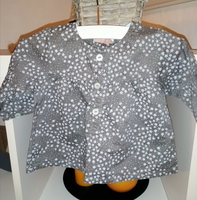 Natalys blouse fille 3 mois Neuf
