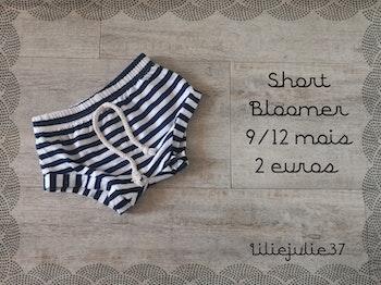 Short Bloomer 9/12 mois