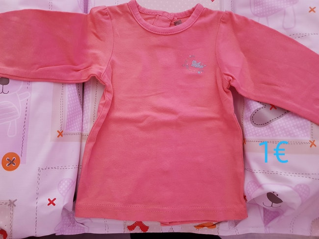 Tee-shirt corail 6mois