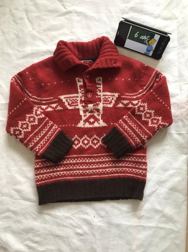 pull en laine chaud - taille 6 ans