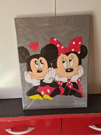 Tableau Minnie et Mickey