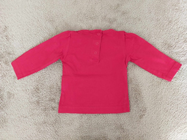 Tee-shirt manches longues rouge 6 mois Influx
