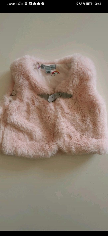 Manteau sans manche Mes petits cailloux taille 3 Mois.