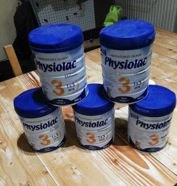 Lots de 5 boîtes lait en poudre physiolac croissance 3