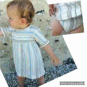 6 mois bébé fille robe et bloomer
