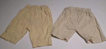 Lot de 2 shorts 12 mois léger en coton mixte