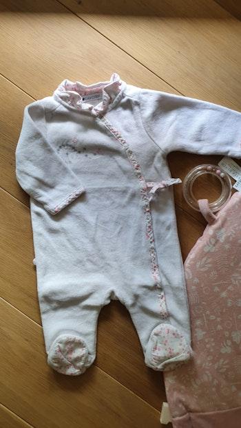 Pyjama velour fille Obaïbi. 3 mois