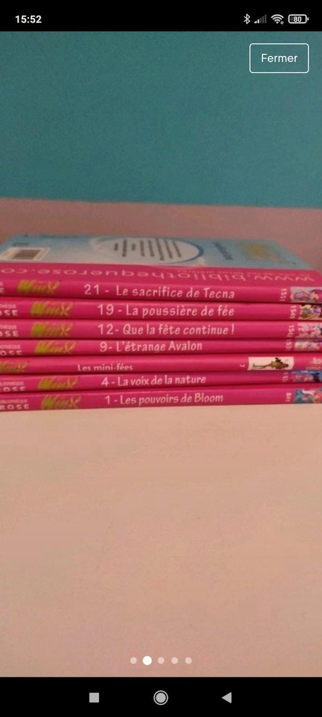 7 livres winx
