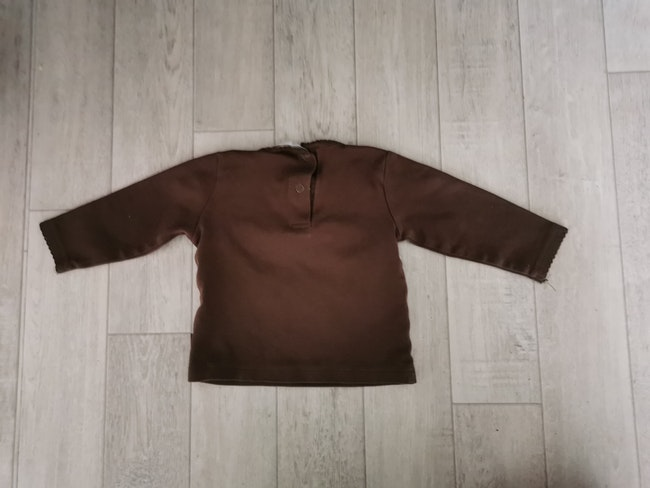 T shirt manches longues marron H&m 6 mois