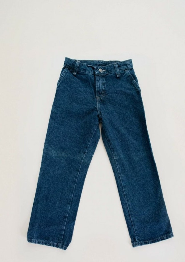 Jean type baggy - taille ajustable / 8 ans