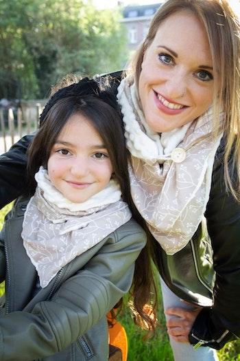 Ensemble foulards mère/fille