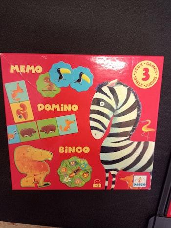 Boite de jeux Djeco mémo dominos bingo
