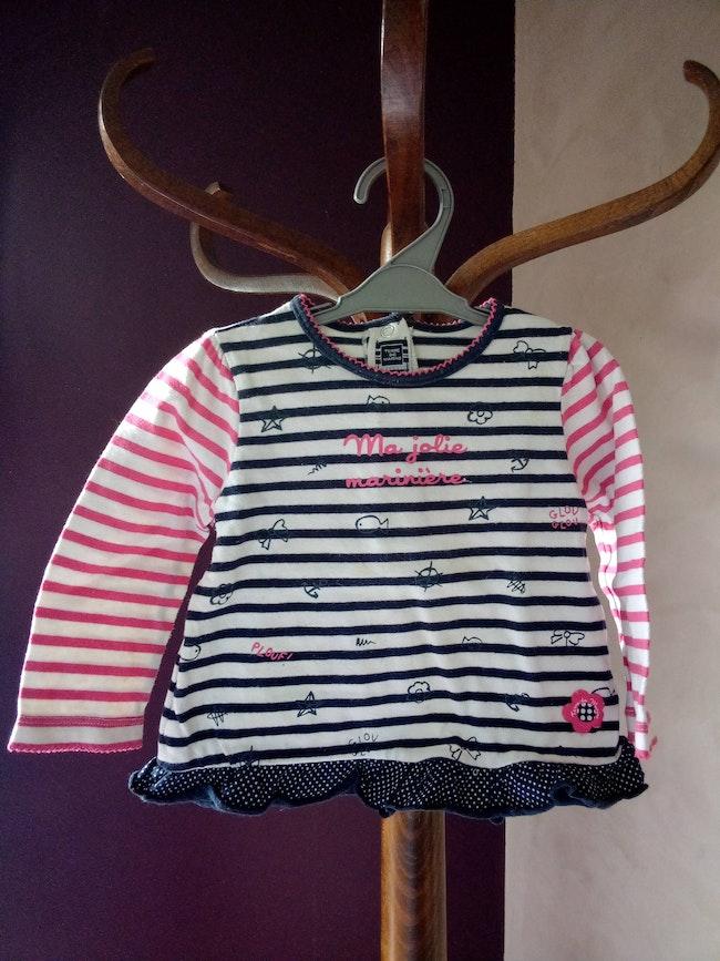 T-shirt manches longues fille 2 ans