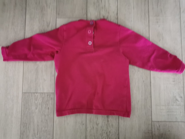 T shirt manches longues Orchestra rose 6 mois