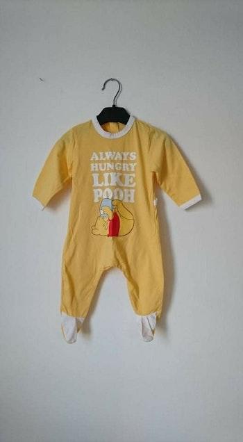 Grenouillère coton jaune winnie l'ourson Disney 6 mois
