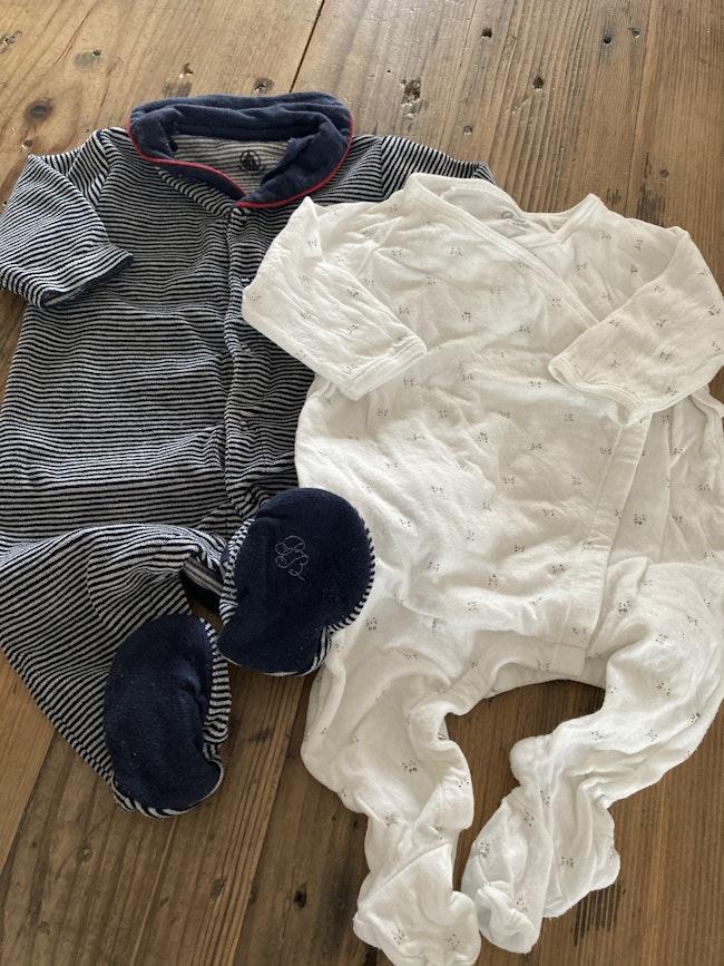 Lot 2 pyjamas dors-bien Petit Bateau