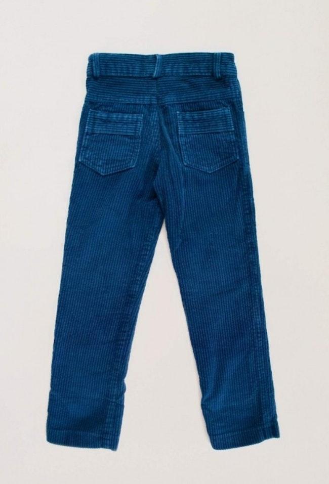 Pantalon velours côtelé bleu marine droit