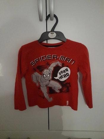 Tee shirt manche longue spiderman 4 ans