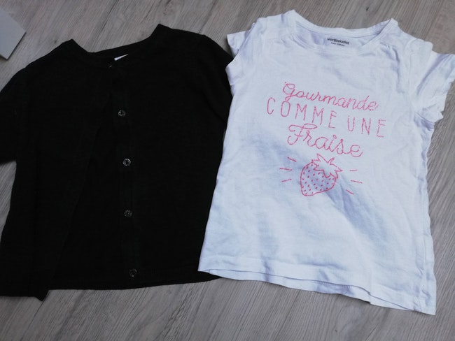 Ensemble gilet tee shirt