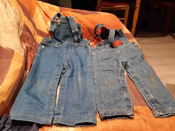 Lot de 2 salopette jeans