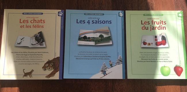 3 livres «mes livres magiques»