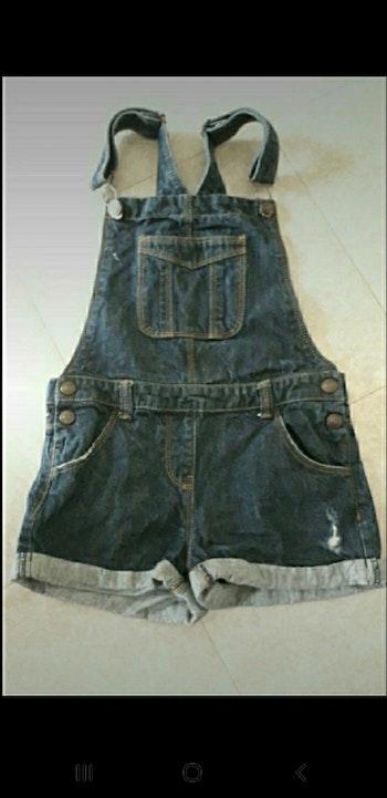 Salopette short en jeans 9 ans
