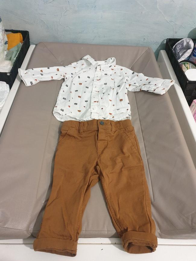 Ensemble chemise + jean h&m 6M