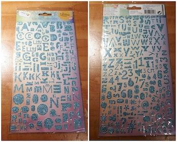 Alphabet pailletés scrapbooking