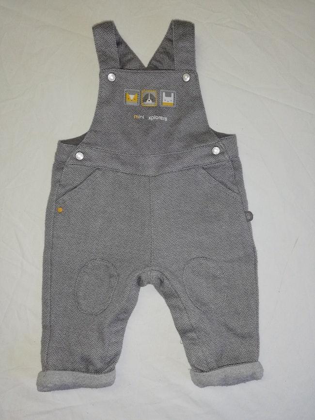 Salopette grise taille 3 mois garçon