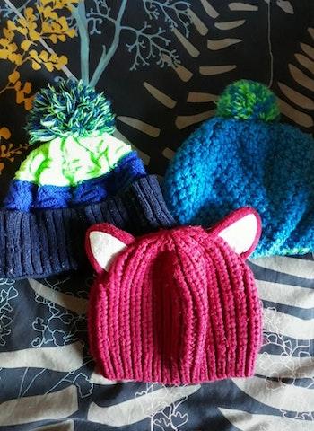 Lot de bonnets