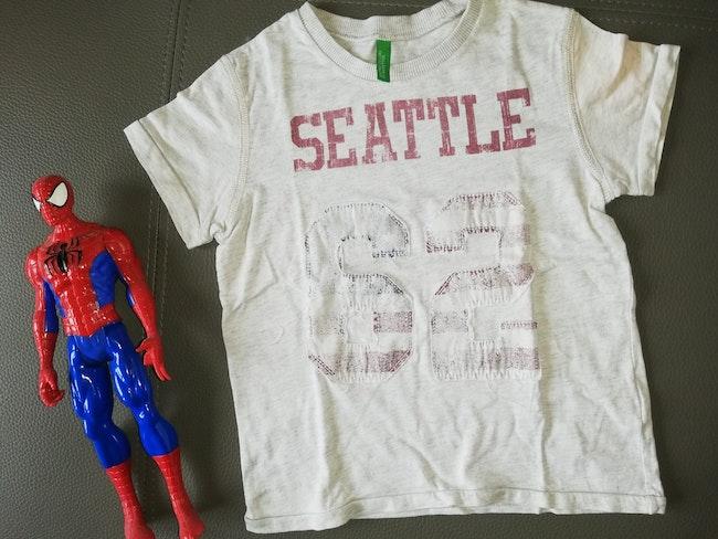 Tee shirt manche courte benetton 3/4 ans