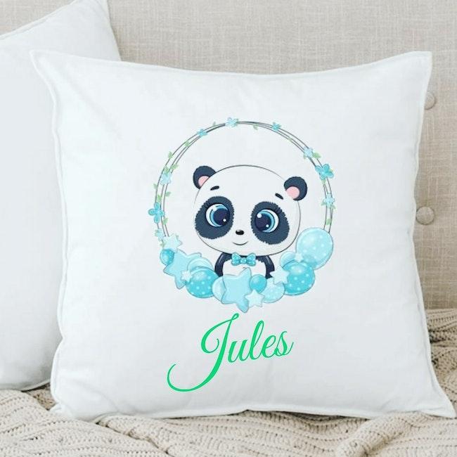 Coussin panda personnalisé