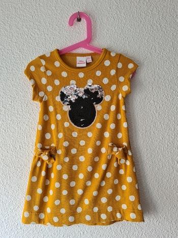 robe jaune à pois minnie Disney
