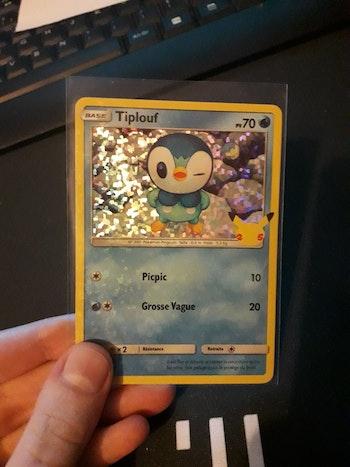 Carte Pokémon 25ans holo tiplouf
