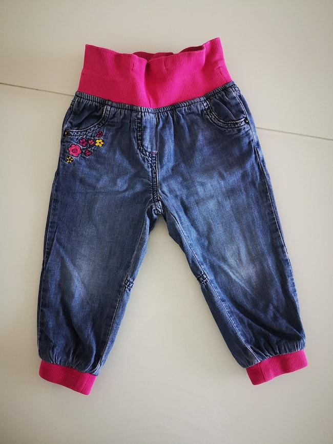 Pantalon élastique rose