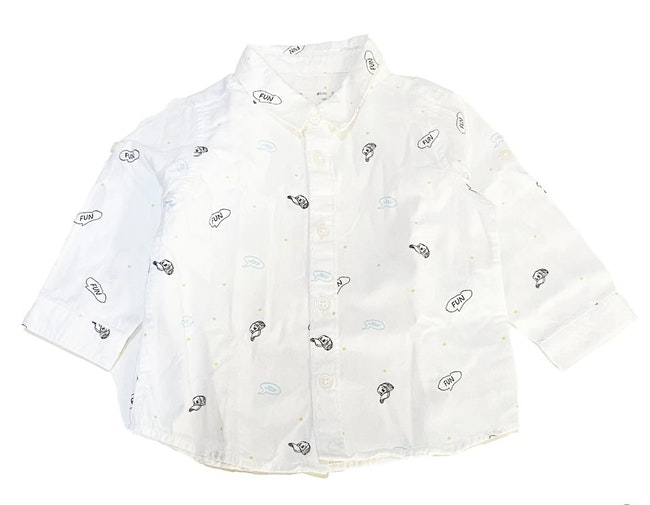Chemise blanc 6 mois