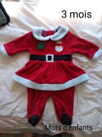 Pyjama robe Noël 3 mois