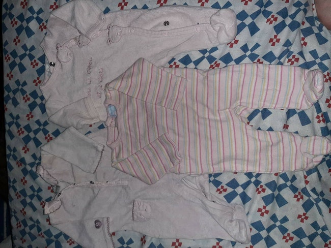 Lot de 3 pyjamas filles