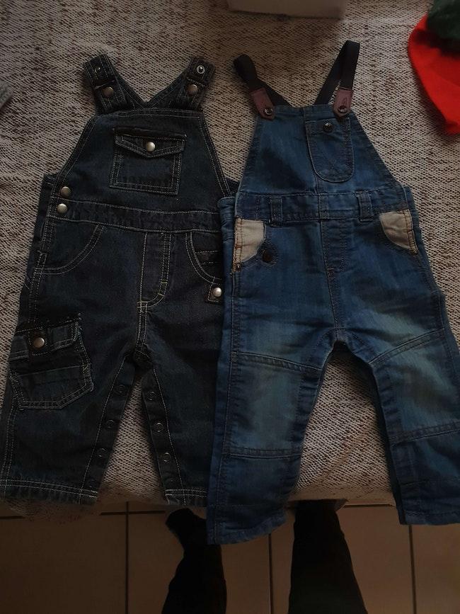 Lot de 2 salopettes en jean