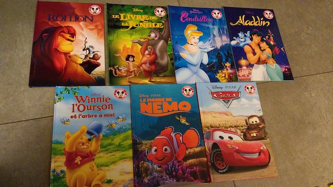 Lot 7 livres disney