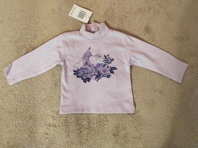 Tee-shirt manches longues violet/parme 6 mois