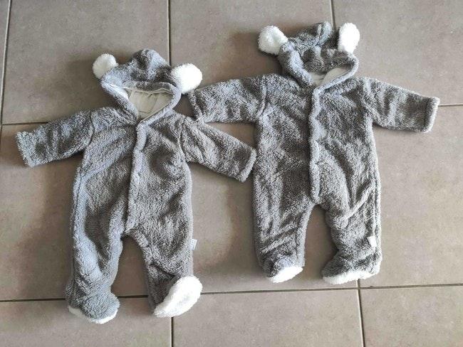 2 combinaison chaude bébé