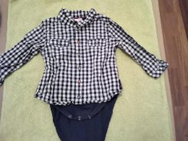 Chemise avec body intégré 9 mois garçon