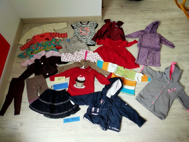 12 mois fille hiver