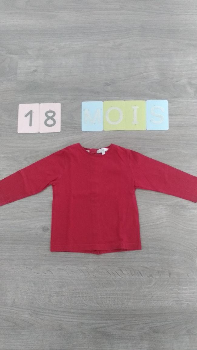 T shirt manches longues Kitchoun rouge