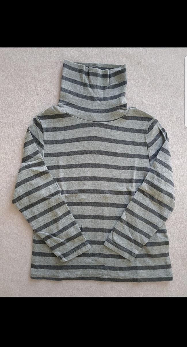 Tee-shirt col roulé à rayures ML enfant garçon 5 ans