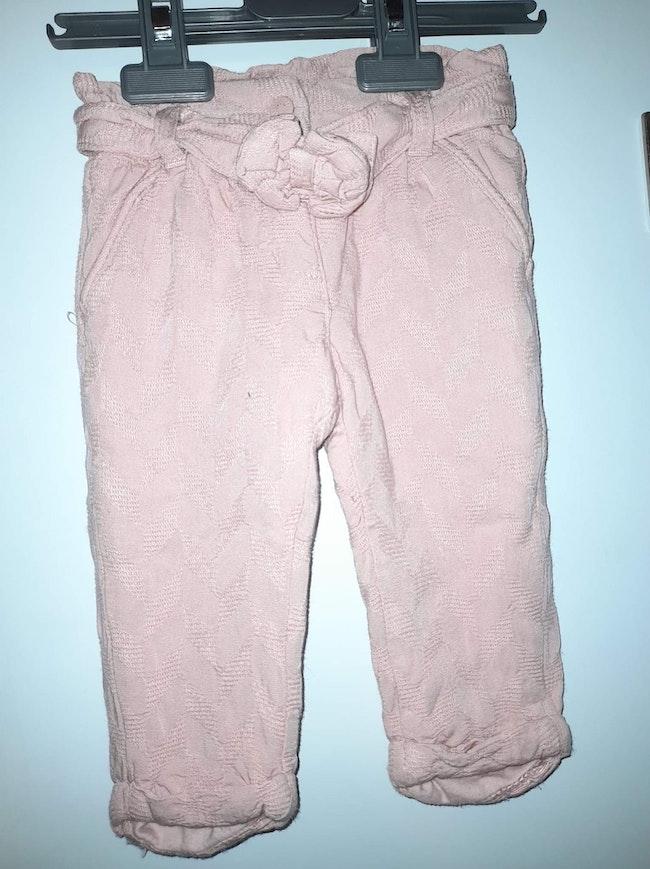 2 pantalon fille 9 mois