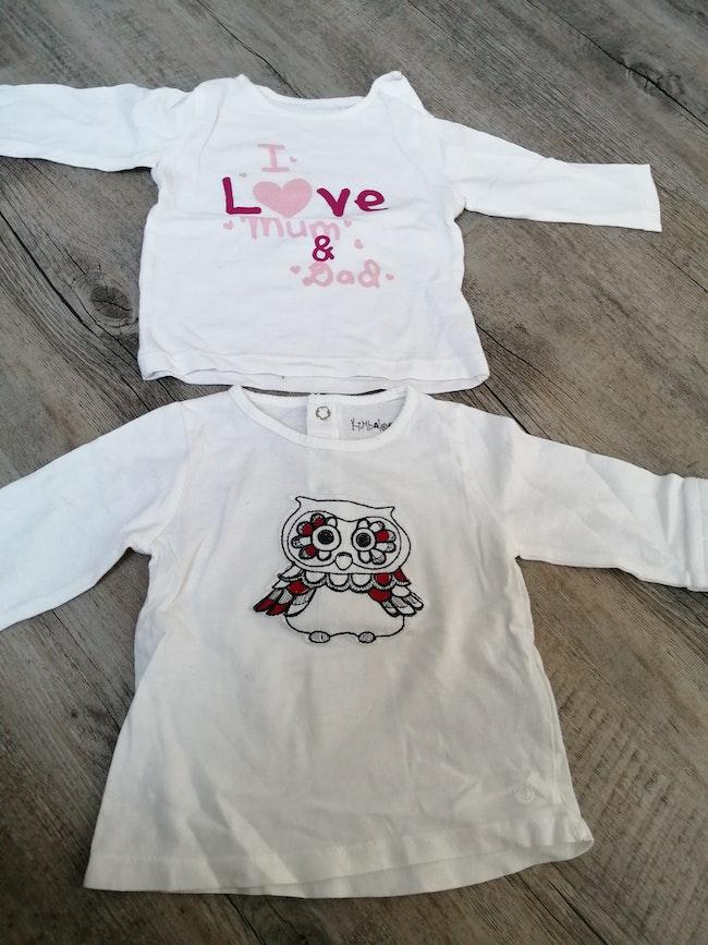 2 tee shirts ML